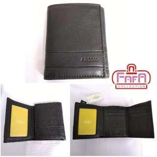 FOSSIL LUFKIN TRIFOLD BLACK SML1395001