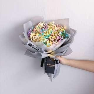 🚚 Graduation Flower- Baby Breath Bouquet | Flower Bouquet Fresh Flower | Anniversary Gift | Birthday Flower |Flower Delivery | 情人节花束 |满天星花束|鲜花运送|生日花束