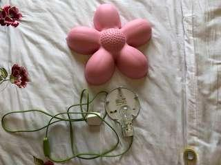 Ikea Smila Blomma Light Pink Wall Lamp
