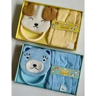 [Brand New] Kids Towel with Hanger (2 sets)