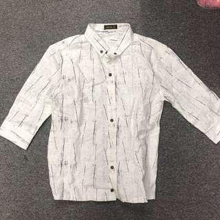🚚 Recoil Marble Print Collar Shirt