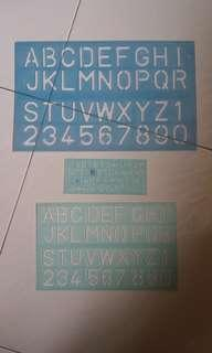 #blessing. A set of 3 stencils. The large and nedium are new. The small used only once (see picture). Exchange for 3 boxes of tissues will do. Thanks.