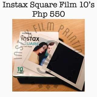 Instax Square Film Plain 10's