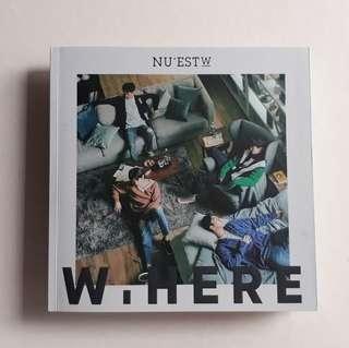ALBUM NU'EST W - W.HERE (Still Life Ver.) UNSEALED [PRELOVED]