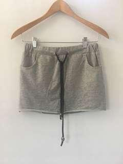 Gray skirt with shorts