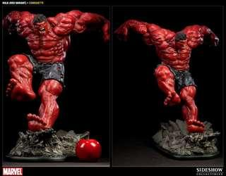 Sideshow Red Hulk comiquette