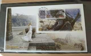 2002 Lotr fdc stamps Orc Raider lady of Rohan lord of the rings