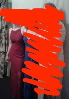 RED ball dress size 8