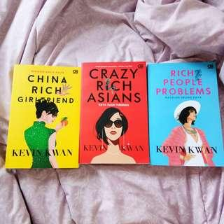 Crazy Rich Asian Trilogy by Kevin Kwan