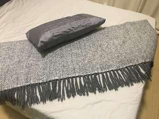 H&M Soft Throw Blanket and Pillow