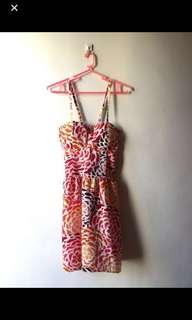 Printed Bustier Dress