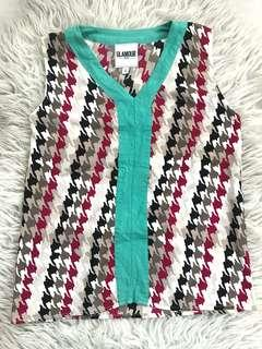 Glamour Houndstooth Sleeveless Top