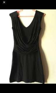 Space Grecian Black Dress