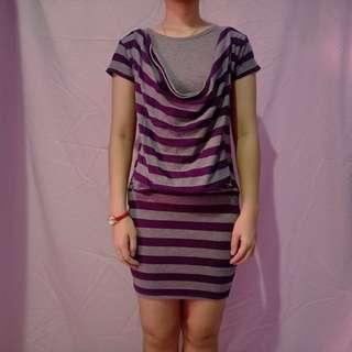 Dress Purple Fit to M-L kecil