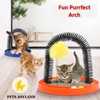 Fun Purrfect Arch with Toys for Cats