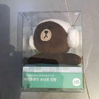 LINE FRIENDS - Brown Heatable Toy