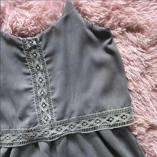 grey lace romper