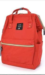 Authentic Anello red backpack