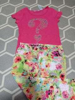Guess blouse pants terno