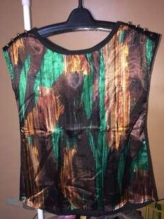 """Authentic Forever 21 """"Abstract Silk Blouse"""""""