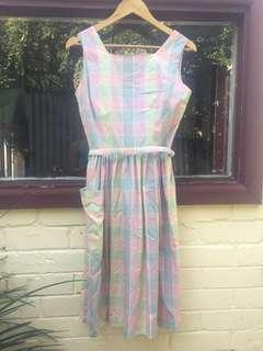 Women's vintage pastel dress size 8 - 10