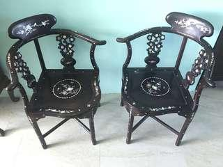 *Price reduced* Vintage corner chairs (not Peranakan)