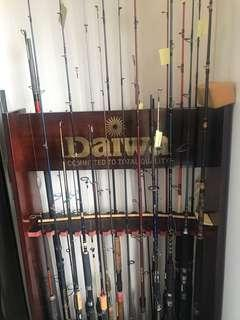 Daiwa fishing rod rack