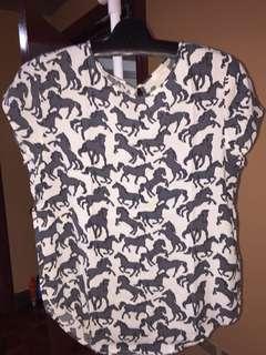 """Authentic H&M """"Horse print Blouse"""""""