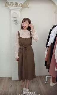 🚚 針織咖啡洋裝