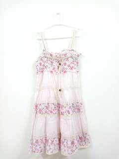 Cotton lace sleeveless dress