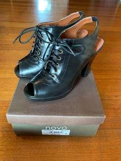 Novo peep toe booties