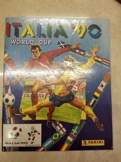 Panini 1990年世界杯集圖冊官方打印專輯