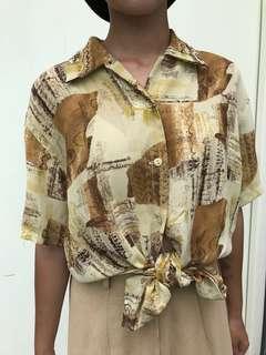 🚚 古著花襯衫
