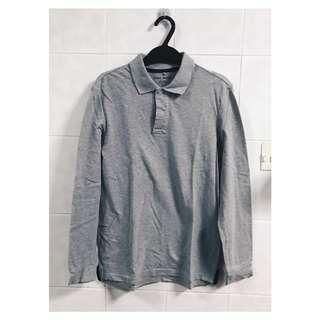 Basic House (Korean Brand) Long sleeve polo shirt (Size S)