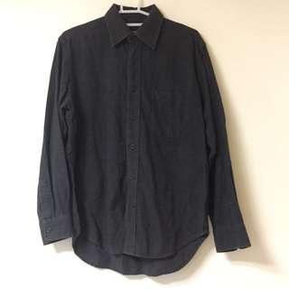 🚚 Bossini 深灰 厚襯衫