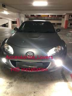 🚚 Hd installation on Mazda mx5 foglight.     installation Suitable for Nissan Toyota Vios Altis Camry Volkswagen scirocco Jetta Golf Passat Mercedes c200 c180 Honda Civic Crossroad mazda 3