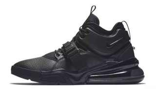 **FOR SALE LIMITED EDITION NIKE AIR FORCE 270 TRIPLE BLACK FOR MEN OEM PREMIUM FOR ONLY P3,499.75!!!**
