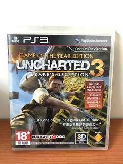 PS3 秘境探險1-3 中英文合版 二手遊戲片