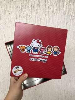 Original Hello Kitty Red Tin Can