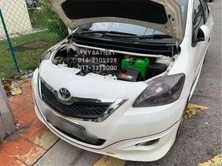 Kereta Bateri Toyota Vios , Amaron Hi Life 55B24L