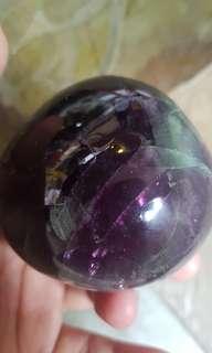 Flourite stone 茵石七彩石 563g
