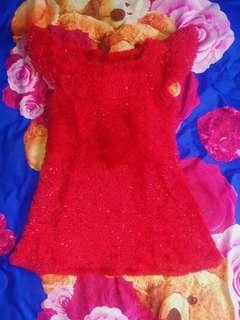 Dress Anak Furry Handmade