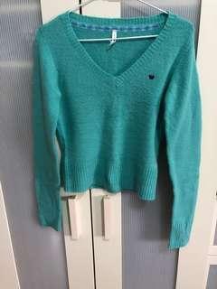二手藍綠色毛衣