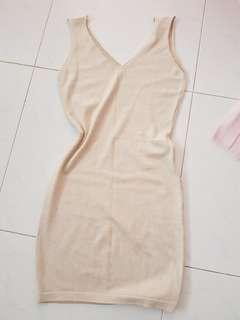 Cotton tight-fit dress