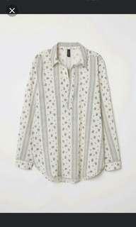 h&m blouse size S