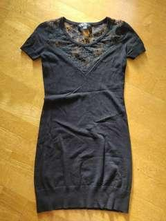 Forever New Black Lace Detail Dress