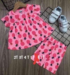 🚚 INSTOCK! GIRLS SET WITH SLEEVE AND W/O SLEEVE.