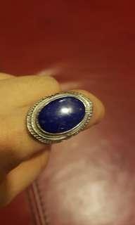 🚚 lapis ring 925 silver.青晶石戒指925