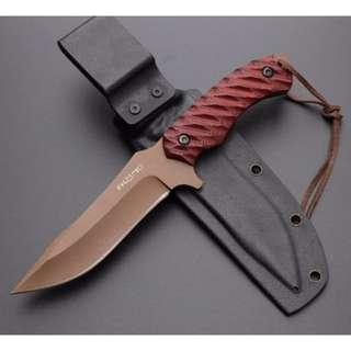 FKMD Fox Knives RED VIPER Full Tang Fixed Blade Knife With Kydex Sheath