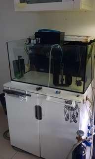 2.5 Ft aquarium with cabinet